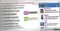 Ajax wordpress plugin autosuggest search