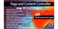 And content controller for edition professional wordpress and