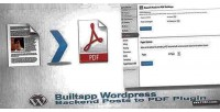 Backend wordpress posts plugin pdf to