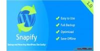 Backup snapify wordpress move and