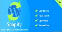 Backup snapify wordpress move and