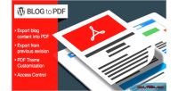 Blog wordpress plugin pdf to