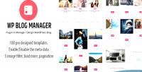 Blog wp manager plugin manage to blog wordpress design