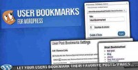 Bookmarks user for wordpress