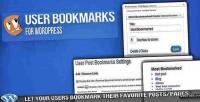 Bookmarks user for wordpress