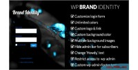 Brand wp identity admin wordpress customize