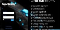 Brand wp identity admin wordpress customize