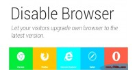 Browser disable
