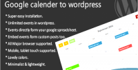 Calendar google to wordpress