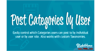 Categories post by wordpress for user