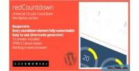 Circular redcountdown countdown