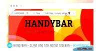 Clean handybar tiny backfrontend toolbar admin