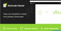 Cleaner shortcode clean content wordpress shortcodes broken from