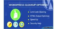 Cleanup wordpress optimize plugin