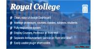 College royal wordpress plugin