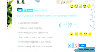 Comment everest rating display like with dislike reaction emojis c wordpress for