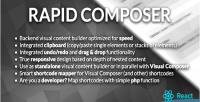 Composer rapid builder content visual