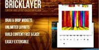 Content bricklayer plugin wp builder