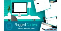 Content flagged let visitors report & posts flag comments & more wo admin to