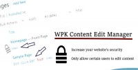 Content wpk edit manager