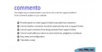 Convert commento comments tickets support into