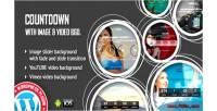 Countdown with image, video background plugin wordpress responsive