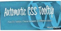 Css automatic wordpress for tooltip