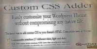 Css wordpress adder plugin