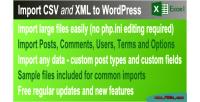 Csv & xml import plugin wordpress premium