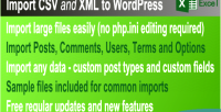 Csv & xml import plugin wordpress premium