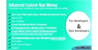 Custom advanced nav menus