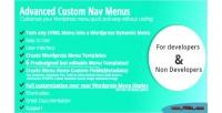 Custom advanced nav menus
