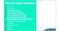 Custom advanced taxonomies