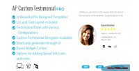 Custom ap testimonial pro