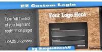 Custom ez login registration