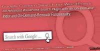 Custom google search plugin wordpress for