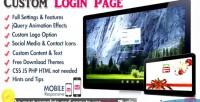 Custom wordpress page theme login