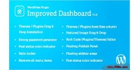 Dashboard improved for wordpress