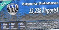 Airport database for wordpress spinner text with