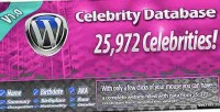 Database celebrity for wordpress