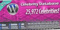 Database celebrity for wordpress