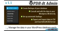 Database wordpress data administrator