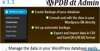 Database wordpress data administrator