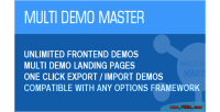 Demo master unlimited front end one click demos export import th for demos demo