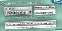 Editor custom buttons
