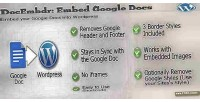 Embed docembdr google plugin wordpress doc