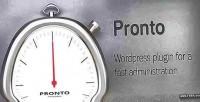 Fast pronto wordpress administration