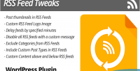 Feed rss plugin wordpress tweaks