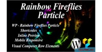 Fireflies rainbow particle