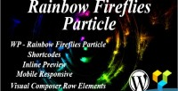 Fireflies rainbow particle